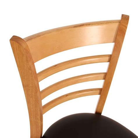 caf 233 chairs sydney ladder back chair with black cushion in oak