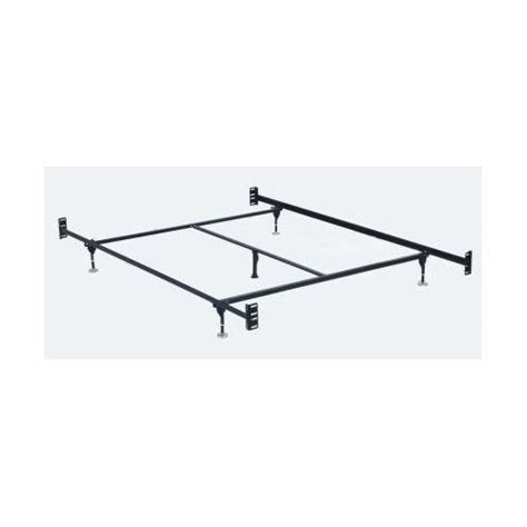 bed frames bed frame with headboard footboard attachment 5 legs and adjustable glides