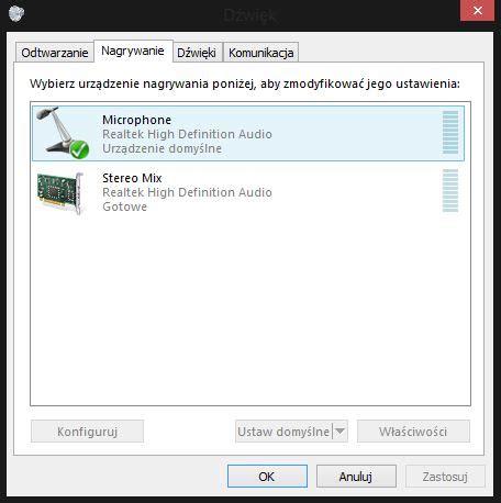 wbudowany mikrofon w laptopie nie działa microsoft community