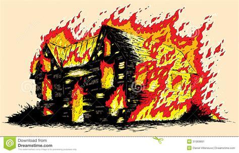 brennendes haus brennendes haus vektor abbildung illustration feuer