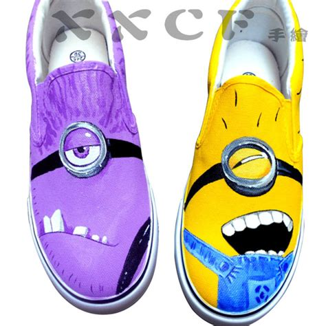 diy minion shoes minion vans shoes despicable me unicorn custom painted