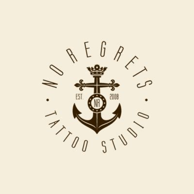 tattoo logo inspiration no regrets tattoo studio logo design gallery