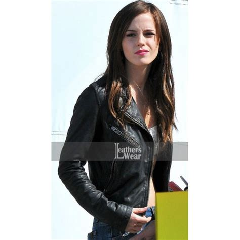 emma watson nicki the bling ring emma watson nicki leather jacket