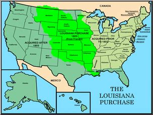 united states map louisiana purchase map of the usa during the louisiana purrchase images