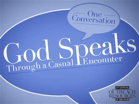 encounter gospel news magazine the voice of italy one conversation god speaks through a casual encounter