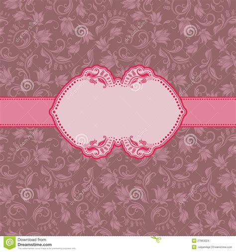 Greeting Card Frame Template by Template Frame Design For Greeting Card Stock Vector