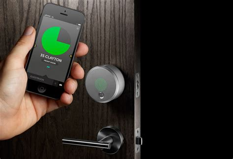 smart door locks yves behar s august smart lock keyless entry for anyone with a smartphone core77
