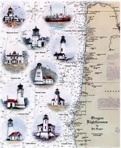 oregon coast lighthouses map oregon