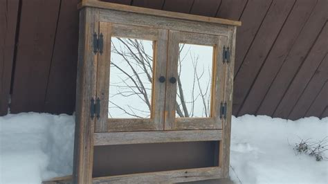 barn door medicine cabinet with mirror barn wood medicine cabinet with open shelf made from 1800s