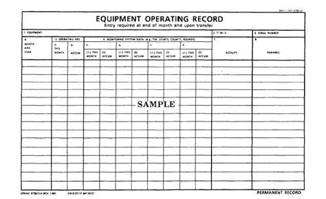 equipment log book template equipment log book template 28 images section 65 log