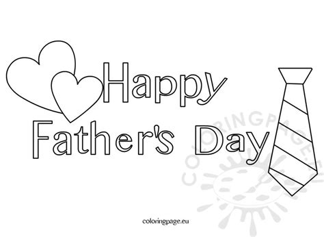 happy father s day coloring page for kids coloring page