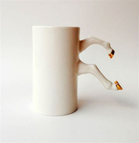 coffee mug handle hooved coffee cup handles horse mug