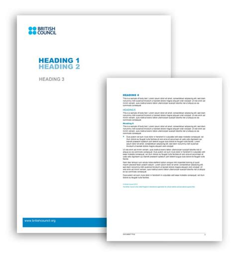 word document template welcome council brand website