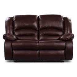 toreno genuine leather reclining loveseat burgundy the