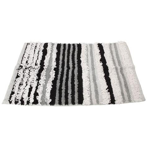 100 cotton rugs uk 100 cotton striped bathroom bath mat rug ebay