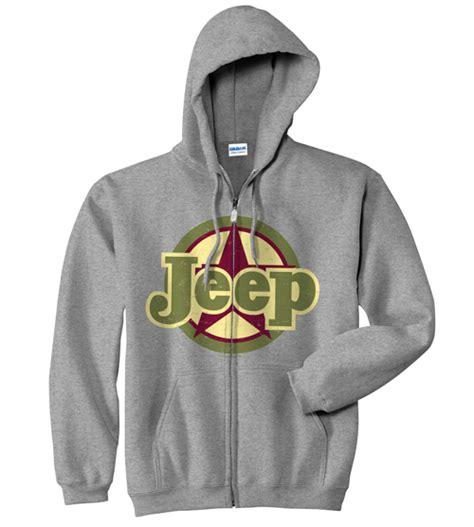 Jeep Hoodies All Things Jeep Jeep Hooded Grey Zip Sweatshirt