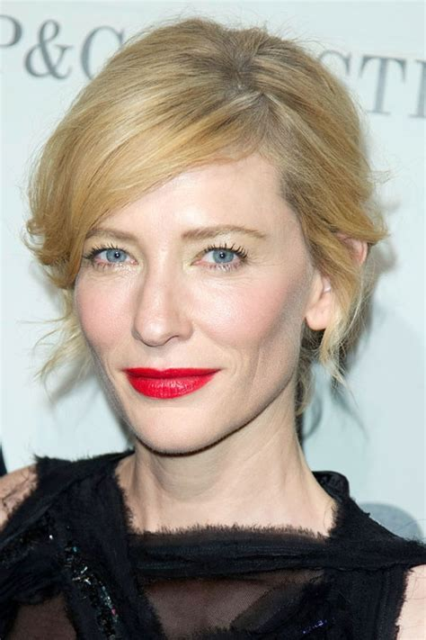 Get The Look Cate Blanchetts Feathered Tresses 2 by 15 Best Lippie Look Book Images On Faces