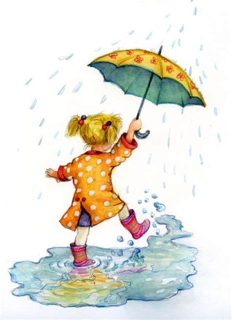 draw umbrella illustrator katherine kirkland umrella jpg water falling from the