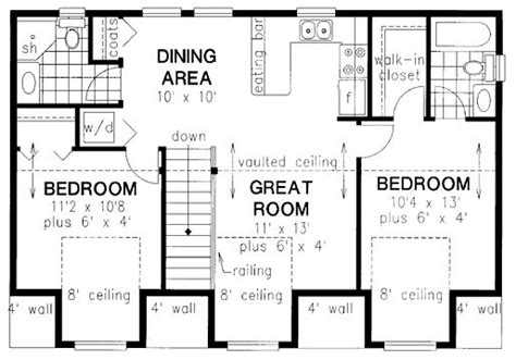 garage apartment plans with kitchen kitchen dining closet and bath on pinterest