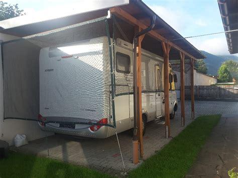 Carport Verkleiden Bilder by Carport Seiten Verkleiden Zumachen Wohnmobil Forum Seite 1