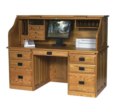 amish roll top computer desk mission roll top desk