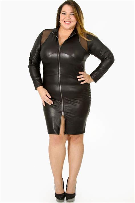 cutethickgirls plus size leather dress 01