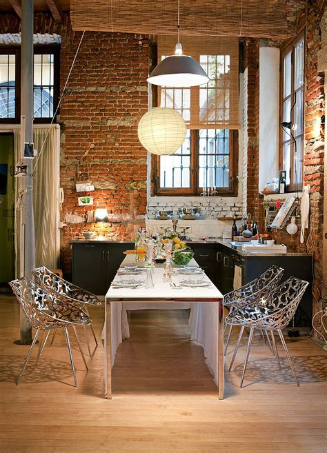 50 Bold And Inventive Dining Rooms With Brick Walls Brick Wall Dining Room