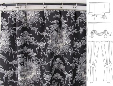 toile cafe curtains custom order for janie black toile rooster drapes cafe
