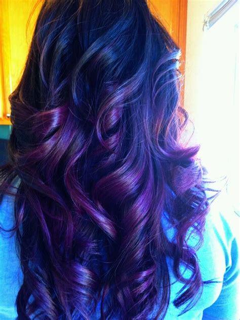 beautiful dark colors red and purple highlights in dark hair healthy hair is