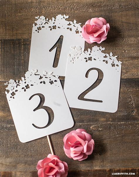 wedding table number cards diy wedding table numbers lia griffith