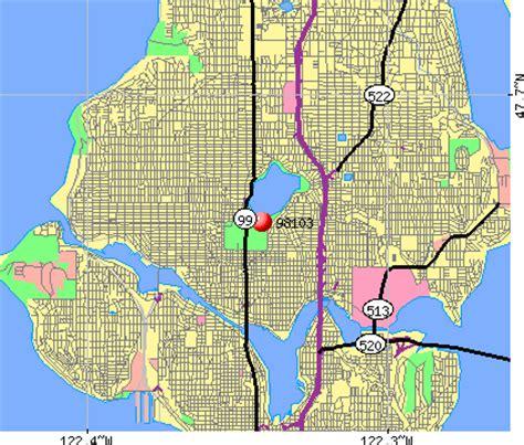 seattle map of zip codes zip code seattle washington map