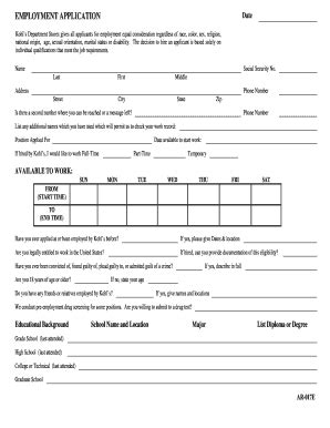 printable job application kohls image gallery kohl s printable out application
