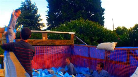 backyard foam pit building a backyard foam pit youtube