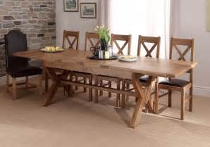 classic and elegant chateu cross leg extending dining