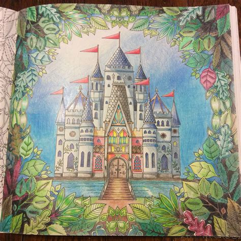enchanted forest colored enchanted forest by johanna basford colored by k