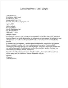 Corporate Administrator Cover Letter by Admin Cover Letter Exles Business Templated Business Templated