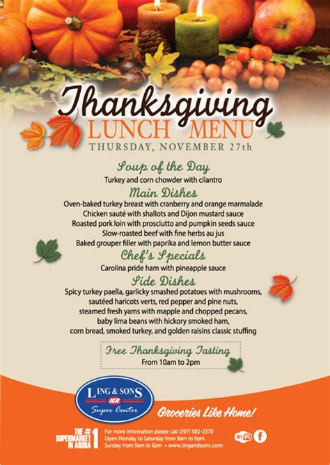 thanksgiving dinner menu template 48 images creative