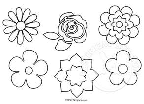Flower Colouring Template by Flower Shapes Set Coloring Page Easter Template