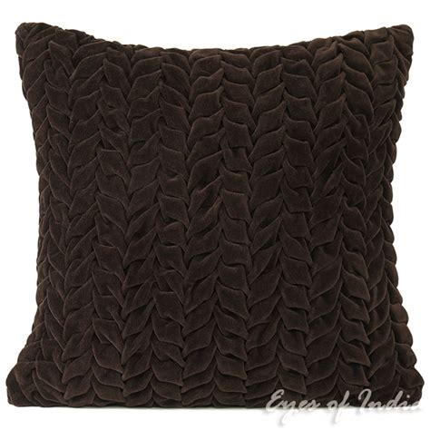 throw pillows for brown sofa 16 quot brown velvet decorative throw sofa pillow cushion