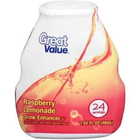 is 62 great price great value raspberry lemonade drink enhancer 1 62 fl oz