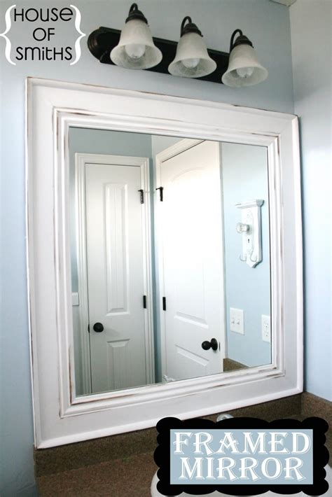 framed bathroom mirror ideas best 25 frame bathroom mirrors ideas on pinterest