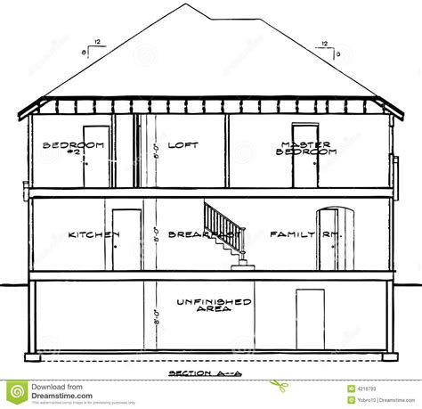 blueprint of a house house blueprint stock vector illustration of house