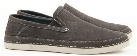 mens timberland leather casual slip on lace boat drving