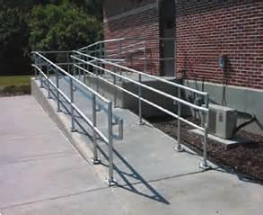 Handicap Ramp Handrails Ada Hand Rail Water Wastewater Factory Industrial