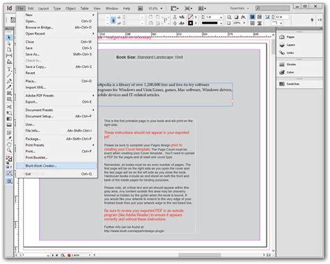 blurb indesign template blurb book creator