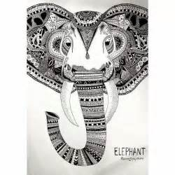 doodle elephant elephant doodle zentangles and patterns