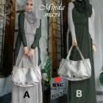 Gamis Blazer Wolfis Batik Katun Silk Dress Maxi Dress gamis modern minda maxi pashmina busana muslim remaja