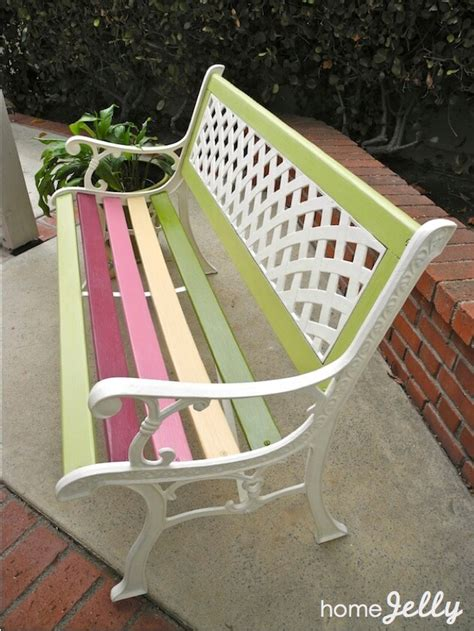 bench painting ideas weekend diy project wow up an old park bench homejelly