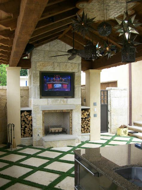 Outdoor Fireplace Dallas by Outdoor Fireplaces Mediterranean Patio Dallas By