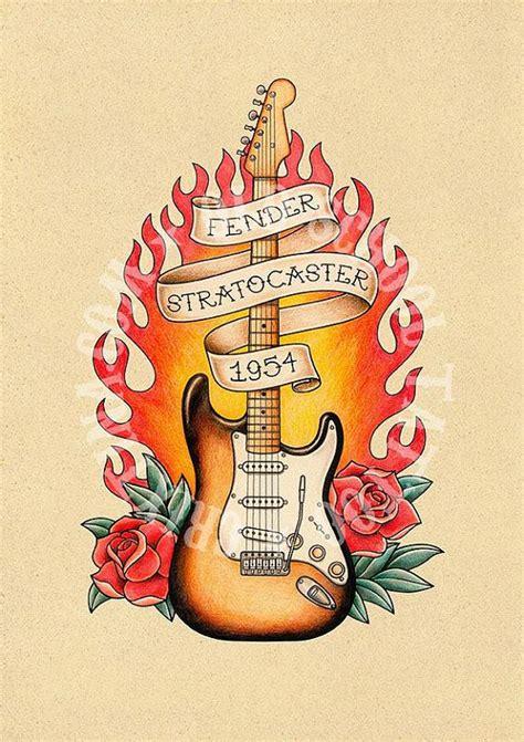 fender tattoos designs t17 fender stratocaster 1954 guitar flash